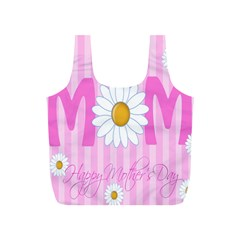Valentine Happy Mothers Day Pink Heart Love Sunflower Flower Full Print Recycle Bags (s)  by Mariart