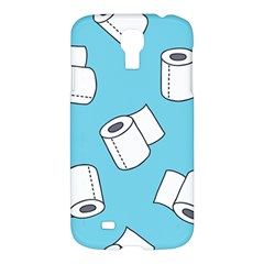 Roller Tissue White Blue Restroom Samsung Galaxy S4 I9500/i9505 Hardshell Case by Mariart