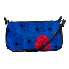 Pink Umbrella Red Blue Shoulder Clutch Bags by Mariart