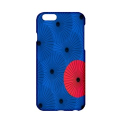 Pink Umbrella Red Blue Apple Iphone 6/6s Hardshell Case by Mariart