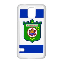 Flag Of Tel Aviv  Samsung Galaxy S5 Case (white) by abbeyz71