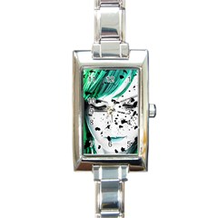 Beauty Woman Close Up Artistic Portrait Rectangle Italian Charm Watch by dflcprints