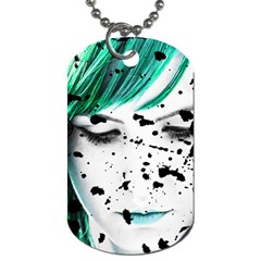 Beauty Woman Close Up Artistic Portrait Dog Tag (two Sides) by dflcprints