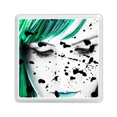 Beauty Woman Close Up Artistic Portrait Memory Card Reader (square)  by dflcprints
