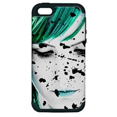 Beauty Woman Close Up Artistic Portrait Apple Iphone 5 Hardshell Case (pc+silicone) by dflcprints