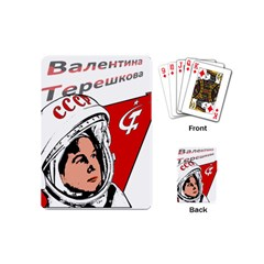 Valentina Tereshkova Playing Cards (mini)  by Valentinaart