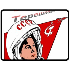 Valentina Tereshkova Double Sided Fleece Blanket (large)  by Valentinaart