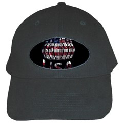 Usa Bowling  Black Cap by Valentinaart