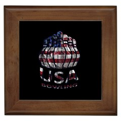 Usa Bowling  Framed Tiles by Valentinaart