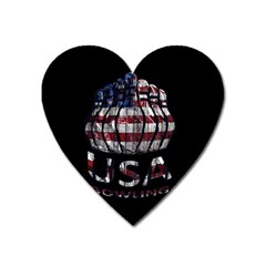 Usa Bowling  Heart Magnet by Valentinaart