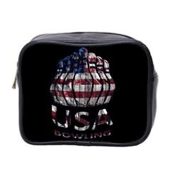 Usa Bowling  Mini Toiletries Bag 2 Side by Valentinaart