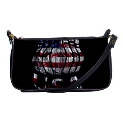 Usa Bowling  Shoulder Clutch Bags by Valentinaart