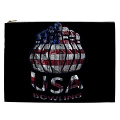 Usa Bowling  Cosmetic Bag (xxl)  by Valentinaart