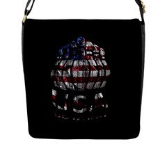 Usa Bowling  Flap Messenger Bag (l)  by Valentinaart