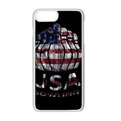 USA Bowling  Apple iPhone 7 Plus White Seamless Case by Valentinaart