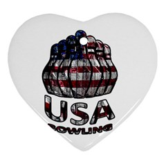 Usa Bowling  Ornament (heart) by Valentinaart