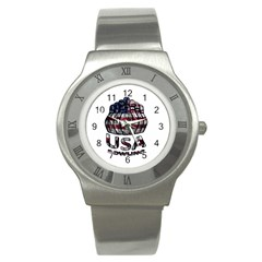 Usa Bowling  Stainless Steel Watch by Valentinaart