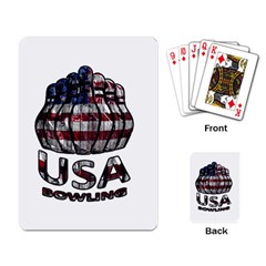 Usa Bowling  Playing Card by Valentinaart