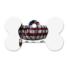 Usa Bowling  Dog Tag Bone (two Sides) by Valentinaart