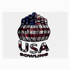 Usa Bowling  Large Glasses Cloth (2 Side) by Valentinaart