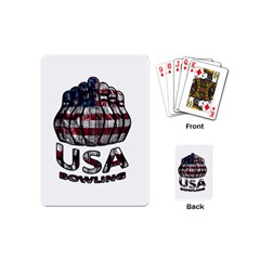 Usa Bowling  Playing Cards (mini)  by Valentinaart