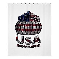 Usa Bowling  Shower Curtain 60  X 72  (medium)  by Valentinaart