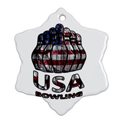 Usa Bowling  Ornament (snowflake) by Valentinaart