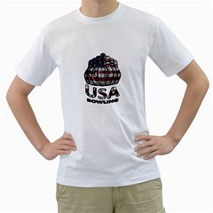 Usa Bowling  Men s T Shirt (white)  by Valentinaart