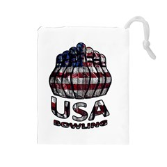 Usa Bowling  Drawstring Pouches (large)  by Valentinaart