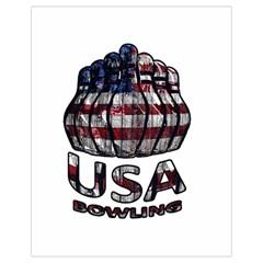 Usa Bowling  Drawstring Bag (small) by Valentinaart