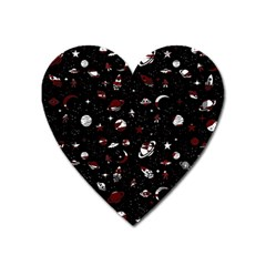 Space Pattern Heart Magnet by Valentinaart