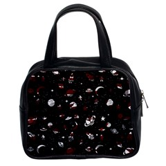 Space Pattern Classic Handbags (2 Sides) by Valentinaart