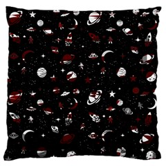 Space Pattern Large Flano Cushion Case (one Side) by Valentinaart