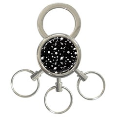 Space Pattern 3 Ring Key Chains by Valentinaart
