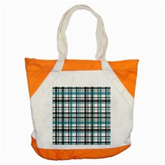 Plaid Pattern Accent Tote Bag by Valentinaart