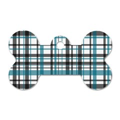 Plaid Pattern Dog Tag Bone (two Sides) by Valentinaart