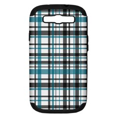 Plaid Pattern Samsung Galaxy S Iii Hardshell Case (pc+silicone) by Valentinaart