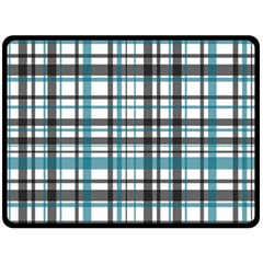 Plaid Pattern Double Sided Fleece Blanket (large)  by Valentinaart