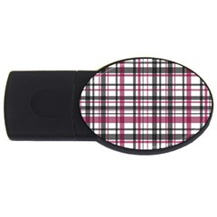 Plaid Pattern Usb Flash Drive Oval (4 Gb) by Valentinaart