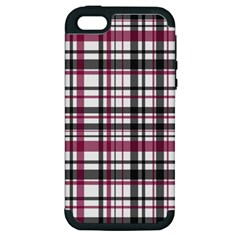Plaid Pattern Apple Iphone 5 Hardshell Case (pc+silicone) by Valentinaart