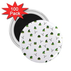 Cactus Pattern 2 25  Magnets (100 Pack)  by Valentinaart