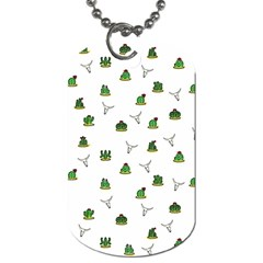 Cactus Pattern Dog Tag (two Sides) by Valentinaart