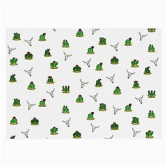 Cactus Pattern Large Glasses Cloth by Valentinaart