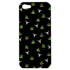 Cactus Pattern Apple Iphone 5 Hardshell Case by Valentinaart