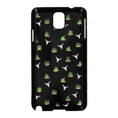 Cactus Pattern Samsung Galaxy Note 3 Neo Hardshell Case (black) by Valentinaart