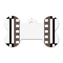 Frame Decorative Movie Cinema Dog Tag Bone (two Sides) by Nexatart