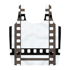Frame Decorative Movie Cinema Full Print Recycle Bags (l)  by Nexatart