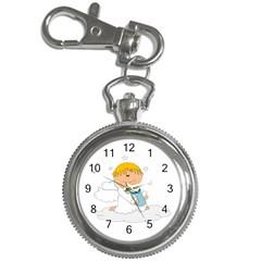 Angel Baby Bottle Cute Sweet Key Chain Watches by Nexatart