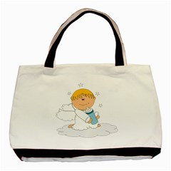 Angel Baby Bottle Cute Sweet Basic Tote Bag (two Sides) by Nexatart