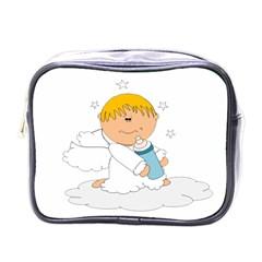 Angel Baby Bottle Cute Sweet Mini Toiletries Bags by Nexatart